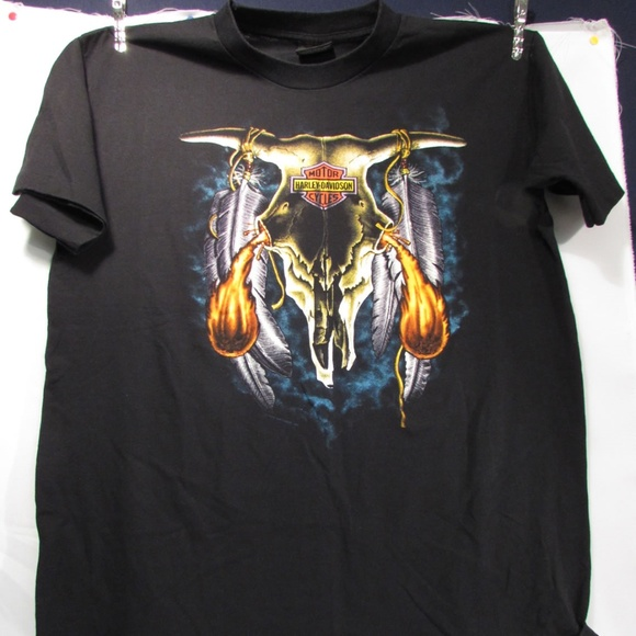 cb297ab283d Harley-Davidson Other - Harley Davidson 3D Skull Erie Holoubek T-Shirt XL
